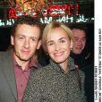 """Dany Boon et Judith Godrèche lors de la générale """"Hysteria"""", à Pairs, le 17 octobre 2002."""