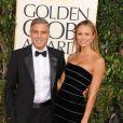 George Clooney et Stacy Keibler à Los Angeles le 12 janvier 2013.