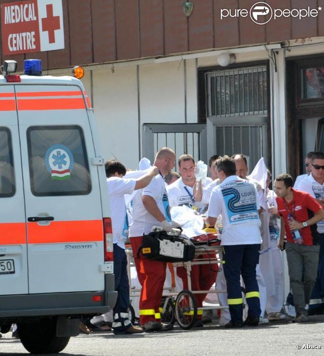 Les photos de l'accident de Felipe Massa et son transport à l'hôpital...