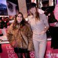Exclusif -Joyce Jonathan et Laury Thilleman assistent à l'inauguration de la boutique Lancôme au 52, Avenue des Champs-Elysées à Paris le 4 décembre 2019. © Rachid Bellak/Bestimage