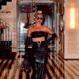 Lady Gaga quitte son hôtel avant de se produire sur la scène de l'Apollo Theater à New York le 24 juin 2019