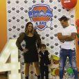 Kelly Helard et Neymar à l'anniversaire de leur fils Lyam, le novembre 2019