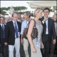 Charlene Wittstock et le prince Albert de Monaco à Rome pour les championnats de natation le 26 juillet 2009
