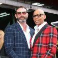 """RuPaul et son mari Georges LeBar - RuPaul reçoit son étoile sur le """"Walk of Fame"""" à Los Angeles le 16 mars 2018."""