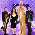 """RuPaul, Michelle Visage, Alan Carr et Graham Norton lors de la finale de la première saison britannique de """"RuPaul's Drag Race"""". Le 21 novembre 2019."""