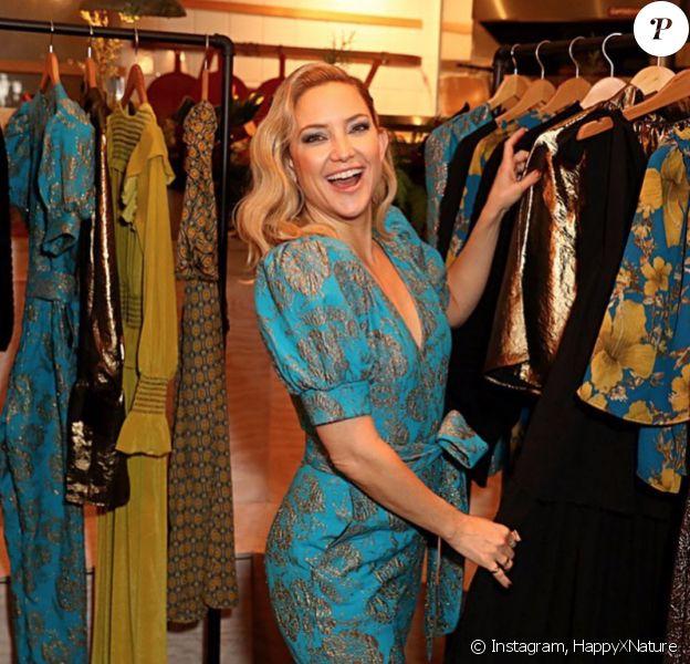 Kate Hudson assiste à la soirée de lancement de la nouvelle collection de HappyXNature. Los Angeles, le 12 décembre 2019.