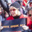 Jane Fonda - L'actrice et militante politique J.Fonda participe à une manifestation pour le climat à Capitol Hill, à Washington, DC, le 8 novembre 2019.