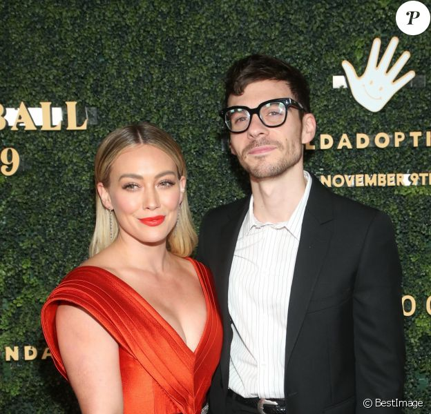 """Hilary Duff et son compagnon Matthew Koma - People à la soirée """"Baby Ball 2019"""" aux studios Goya à Hollywood, Los Angeles, le 12 octobre 2019."""