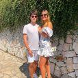 Dylan Deschamps, le fils unique de Didier Deschamps, avec sa compagne Mathilde sur Instagram le 23 juin 2019.