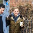 """Exclusif - Michelle Williams sur le tournage de la série """"Fosse/Verdon"""" à New York le 14 février, 2019"""