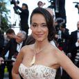 """Karine Lima (robe Christophe Guillarmé, bijoux Gil Neuhaus) - Montée des marches du film """"Sils Maria"""" lors du 67 ème Festival du film de Cannes – Cannes le 23 mai 2014."""