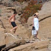 Premier bain pour Nicolas et Carla Sarkozy en vacances... Le président a beaucoup minci !
