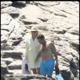 Carla et Nicolas Sarkozy l'an passé au Cap Nègre. Le président a beaucoup maigri depuis !