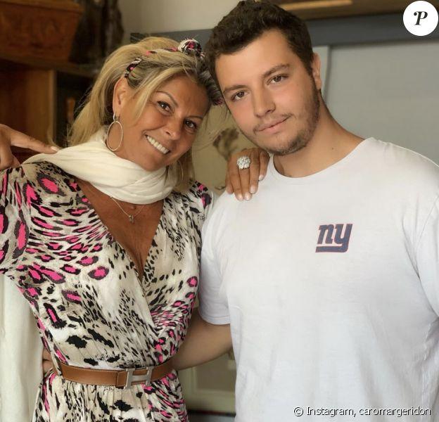 Caroline Margeridon (Affaire conclue) avec son fils Alexandre - Instagram, 14 juillet 2019