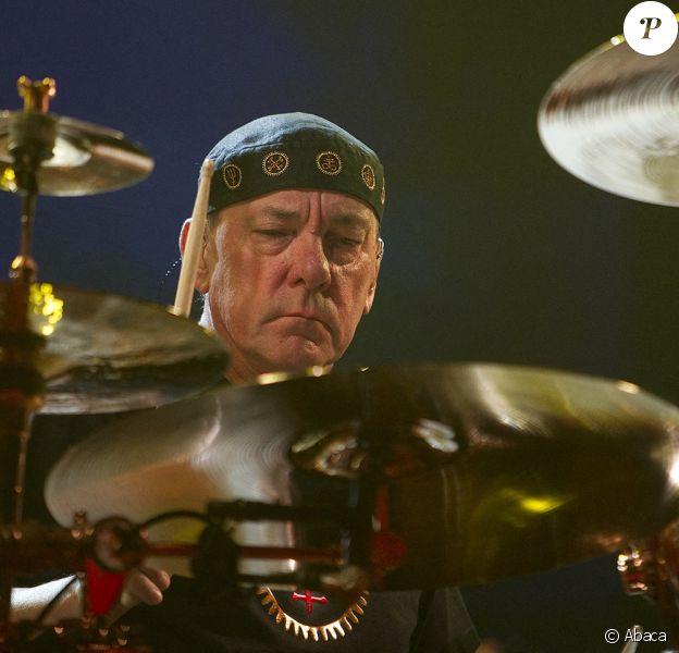 Neil Peart du groupe Rush à St. Louis, Missouri, le 22 septembre 2012.