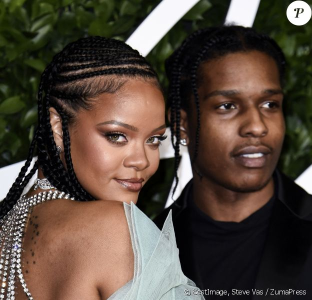 Rihanna et ASAP Rocky à la soirée 'Fashion Awards 2019' au Royal Albert Hall à Londres, le 2 décembre 2019. © Steve Vas / ZumaPress / Bestimage 02/12/2019 - Londres