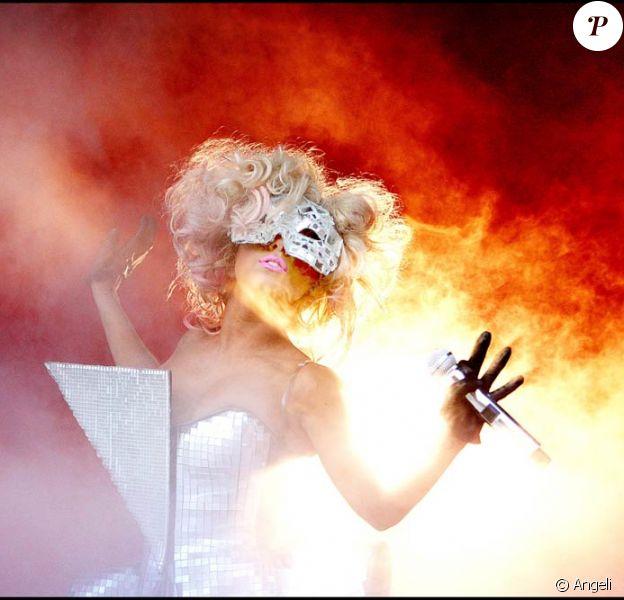 Lady GaGa lors de son concert à Stockholm, le 3 août 2009