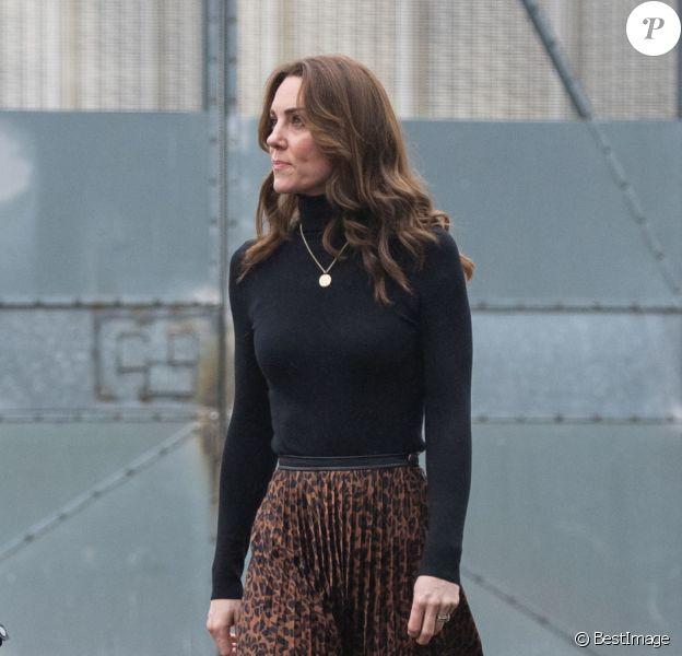 Kate Middleton, duchesse de Cambridge, visite la prison pour femmes HM Send à Woking le 22 janvier 2020.