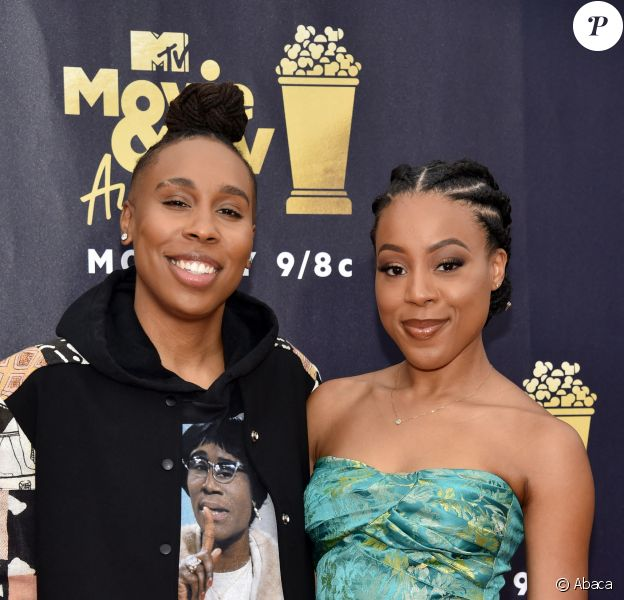 Lena Waithe et Alana Mayo aux MTV Movies et TV Awards, à Santa Monica (Californie), le 16 juin 2018.