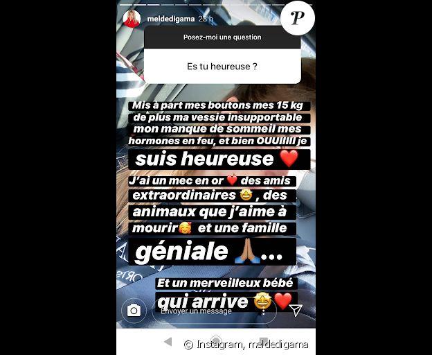 Mélanie Dedigama répond aux questions des internautes sur sa grossesse - Instagram, 25 janvier 2020