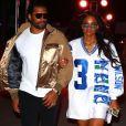 Exclusif - Ciara (enceinte) et son mari Russell Wilson quittent une soirée à Miami le 1er février 2020.