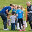 La princesse héritière Victoria de Suède avec sa fille la princesse Estelle et son fils le prince Oscar le 8 septembre 2019 au Pep Day organisé dans le parc Haga par le prince Daniel et l'association Generation Pep, qui promeut un mode de vie sain par le sport.