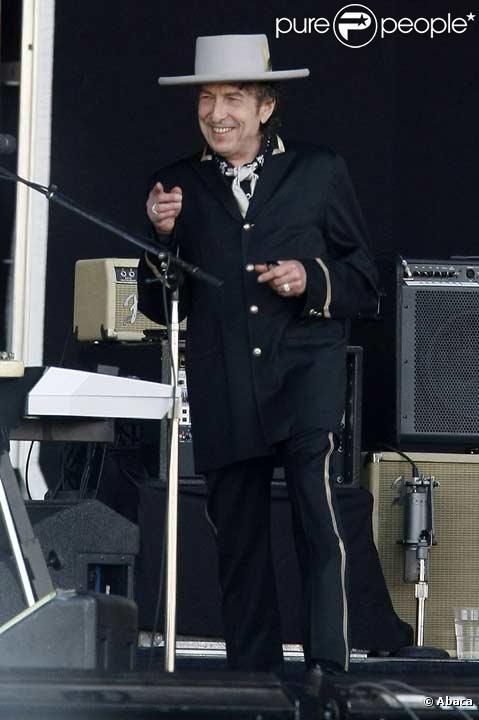 Bob Dylan sur scène en juillet 2008