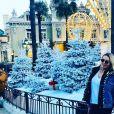 Marie Garet heureuse à Monte-Carlo, le 14 décembre 2019