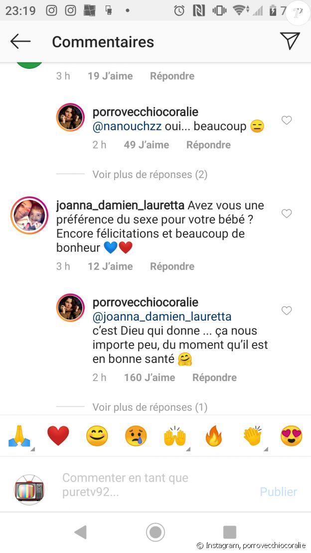 Coralie Porrovecchio répond aux questions des internautes sur Instagram, le 18 février 2020
