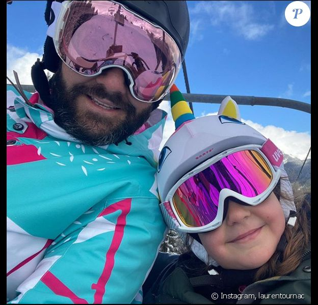 Laurent Ournac avec sa fille Capucine au ski - 18 février 2020, Instagram