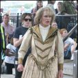 Rupert Everett sur le tournage de Saint Trinian's II - The Legend of Fritton's Gold, à Londres les 10 août 2009