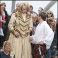 Rupert Everett et Colin Firth sur le tournage de Saint Trinian's II - The Legend of Fritton's Gold, à Londres les 10 août 2009
