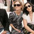 French singer and actress Vanessa Paradis and her sister Alysson pictured at the Chanel Fall-Winter 2006-2007 Haute-Couture collection held at 'Pelouse de Saint-Cloud' near Paris, France, on July 6, 2006. Photo by Nebinger-Taamallah/ABACAPRESS.COM
