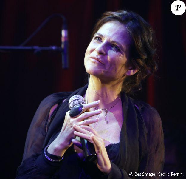 Charlotte Valandrey a fêté son 50ème anniversaire lors de son concert au Zèbre de Belleville à Paris. Le 29 novembre 2018 © Cédric Perrin / Bestimage