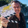 """Jean-Luc Reichmann à Marseille pour le tournage de """"Léo Mattei"""", le 23 février 2020"""
