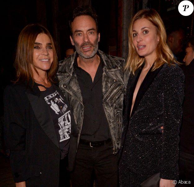 Anthony Delon, Sveva Alviti et Carine Roitfeld lors de la soirée CR x Redemption organisée à l'hôtel Crillon à Parisle 28 février 2020.
