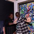 Exclusif - Blaise Matuidi et Mamadou Sakho au premier goûter des étoiles au profit de l'association AMSAK à l'Orangerie au Jardin d'acclimatation à Paris, France, le 1er mars 2020. © Rachid Bellak/Bestimage