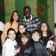 Exclusif - Caroline Touboul et Mamadou Sakho au premier goûter des étoiles au profit de l'association AMSAK à l'Orangerie au Jardin d'acclimatation à Paris, France, le 1er mars 2020. © Marc Ausset-Lacroix/Bestimage