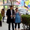 Exclusif - Milla Jovovich et son mari Paul W. S. Anderson se rendent au restaurant Spago à Beverly Hills le 21 janvier 2020