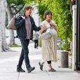 Exclusif - Milla Jovovich et son mari Paul W. S. Anderson se promènent avec leur chien dans les rues de Los Angeles, le 16 janvier 2020