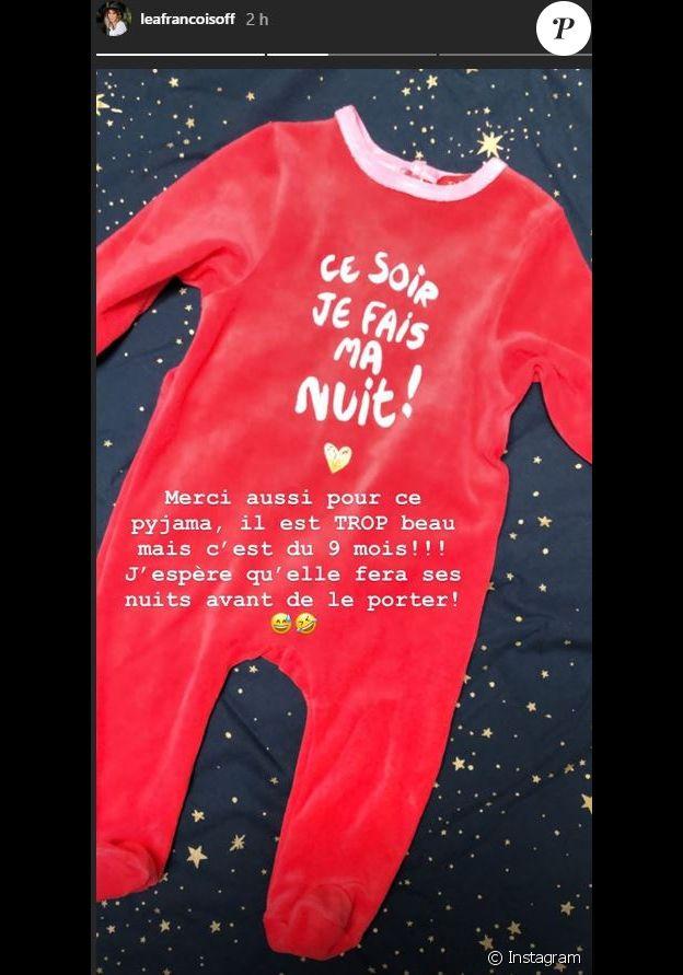 Léa François dévoile les beaux cadeaux qu'elle a reçu, en story Instagram, le 3 mars 2020