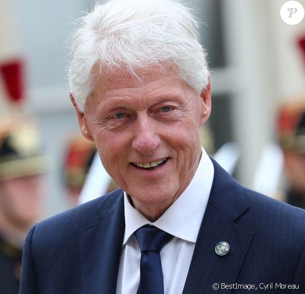 Bill Clinton - Emmanuel Macron reçoit les chefs d'Etat et de Gouvernement étrangers ayant fait le déplacement en France pour rendre hommage au Président Jacques Chirac au Palais de l'Elysée Paris, France, le 30 septembre 2019. © Cyril Moreau/Bestimage