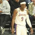 Jay-Z et sa fille Blue Ivy Carter assistent au match de NBA Los Angeles Clippers - Los Angeles Lakers au Staples Center. Los Angeles, le 8 mars 2020.