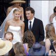 Stéphanie Renouvin lors de son mariage en juillet 2008