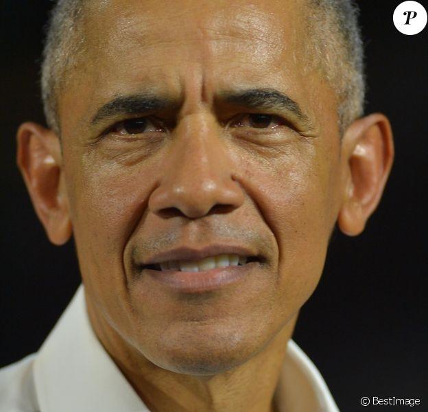 Barack Obama - Le candidat démocrate au poste de gouverneur de la Floride, Andrew Gillum, en campagne avec le sénateur américain Bill Nelson et l'ancien président américain Barack Obama en Floride le 2 novembre 2018