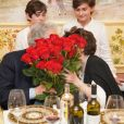 Exclusif - Placido Domingo et sa femme Marta lors de leur 57e anniversaire de mariage à Vérone, entourés de leur famille et leurs amis, le 3 août 2019. L'artiste lyrique a annoncé le 22 mars 2020 être atteint du coronavirus après avoir été testé positif au Covid-19.