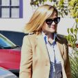 Reese Witherspoon arrive à son bureau dans le quartier de Brentwood à Los Angeles, le 12 février 2020.