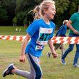 La princesse Estelle de Suède, avec son dossard 477, participait le 8 septembre 2019 au Pep Day organisé dans le parc Haga par le prince Daniel et l'association Generation Pep, qui promeut un mode de vie sain par le sport.