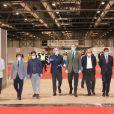 Le roi Felipe VI et la reine Letizia d'Espagne ont visité le 26 mars 2020 un hôpital de campagne installé au Palais des Congrès de Madrid (IFEMA) pour répondre à la crise sanitaire du coronavirus.