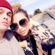 Aaron Carter et sa petite amie, Melanie Martin, sur Instagram, le 18 février 2020.